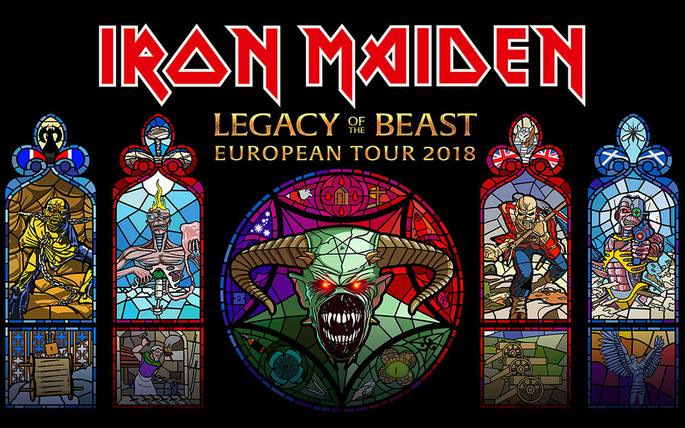 Iron Maiden - Legacy Of The Beast European Tour 2018